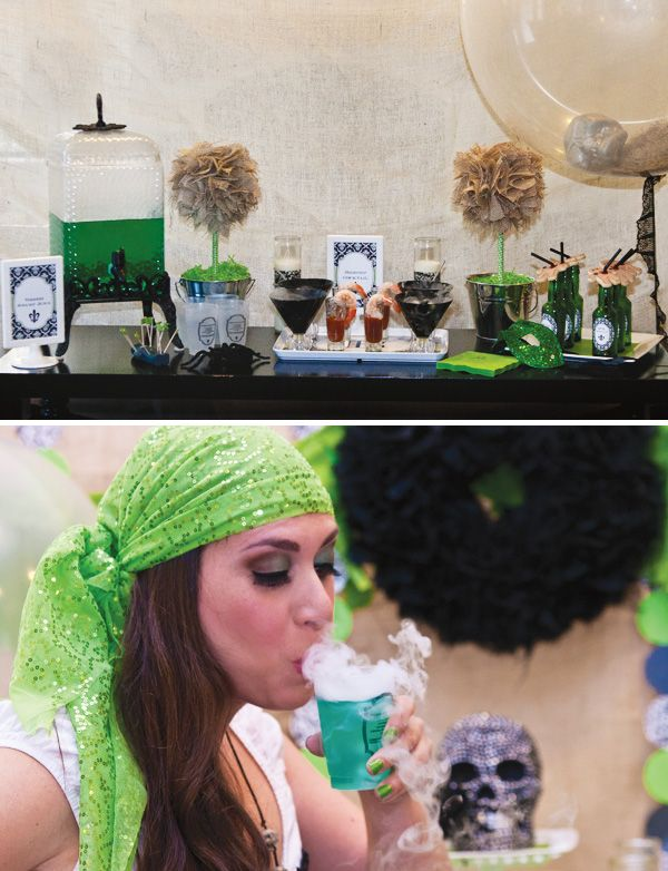 {NEW ORLEANS STYLE} ADULT HALLOWEEN VOODOO PARTY:  ''I wanted to create a different Halloween theme and love New Orleans so I thought that a sophisticated voodoo party would be a lot of fun.''  My lord, I wanna find and hire this PP for my birthday, New Years or just because it's Monday!