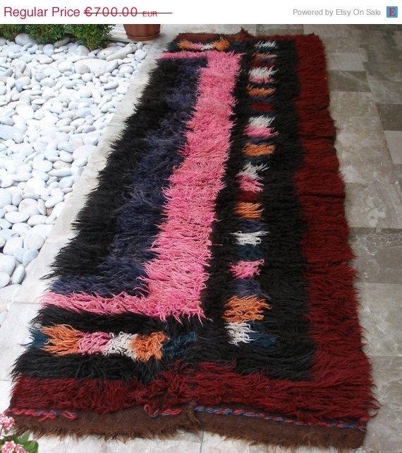 Antique Flokati Kilim Rug  Extra Large by VintageHomeStories, #Rustic #Rug