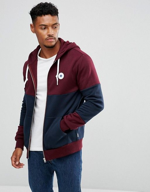 39ce31d5b Converse Chuck Patch Zip Hoodie In Red 10004628-A02 | a | Latest ...