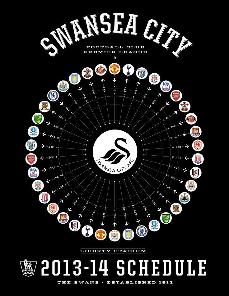 Swansea City 2013-14 Premier League Schedule - www.rwin888.com