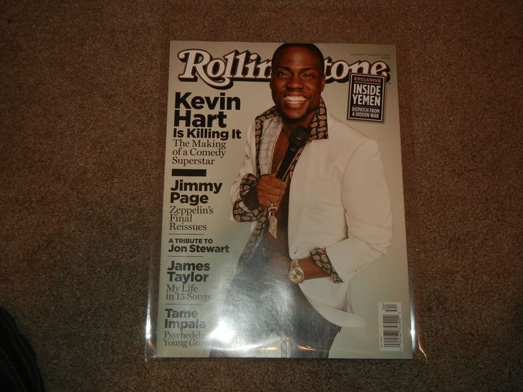 Rolling Stone Magazine Kevin Hart Issue #1241 August 13, 2015 (Back Issues, New)
