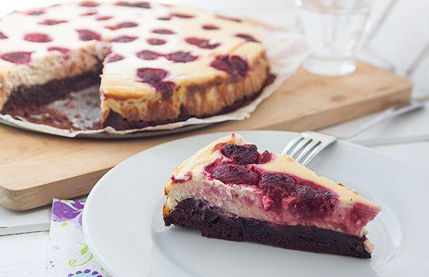 Segítsüti 2016: Málnás cheesecake brownie