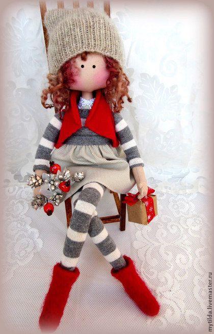 Коллекционные куклы ручной работы. Ярмарка Мастеров - ручная работа Зимняя малышка Милена. Handmade.♡