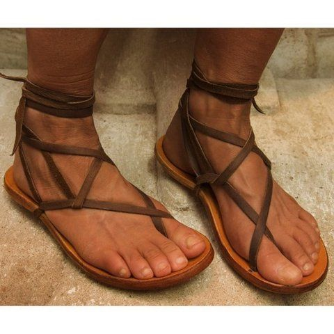 Handmade Gladiator sandals by zuzsi.