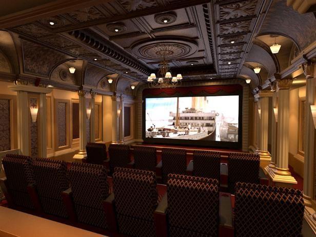 Beautiful Luxury Titanic Theme Home Theater Room : Home Improvement | Home  Interior Design