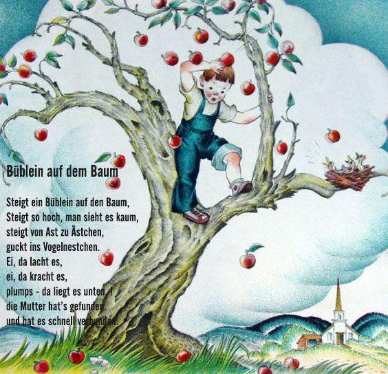 Reim Gedicht Apfelbaum Kindergarten Erzieherin