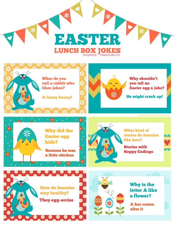 Free Printable Easter & Spring Lunch Box Jokes