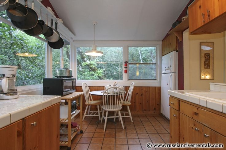 Cook in this secluded kitchen snuggled in the redwoods.  Your own private Hidden Haven in Forestville, CA