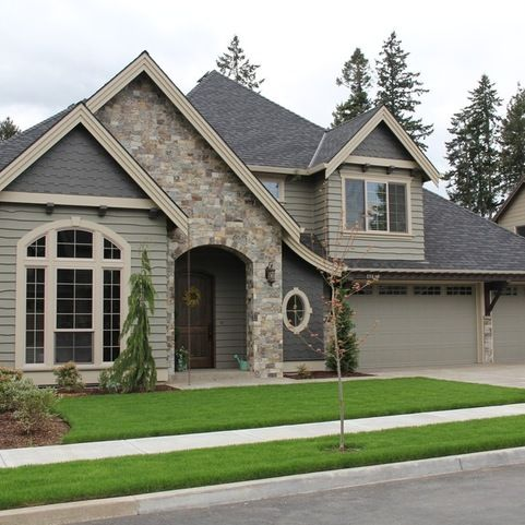 The 25 Best Gray Exterior Houses Ideas On Pinterest Gray House White Trim Exterior House