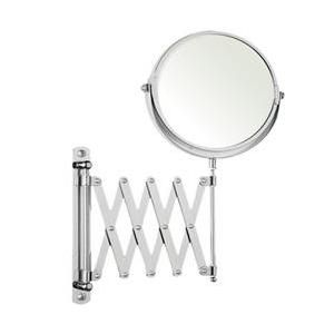 Rucci M628 5x and 1x Magnification Silver Wall-Mounted Extendable Mirror