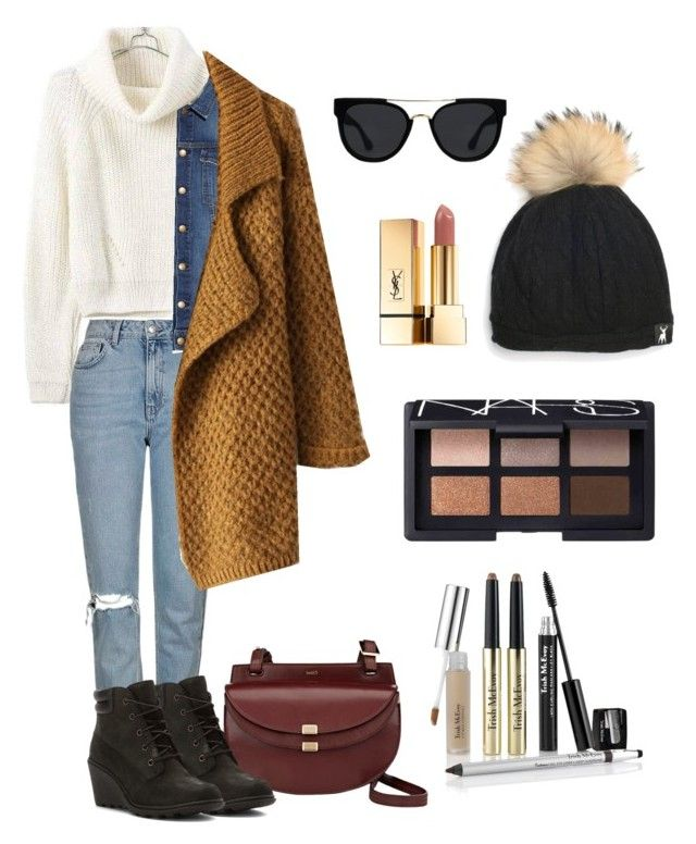 Untitled #37 by xjihye on Polyvore featuring polyvore, fashion, style, Chicwish, Current/Elliott, Topshop, Timberland, Chloé, Tallis, Quay, NARS Cosmetics, Trish McEvoy, Yves Saint Laurent and clothing