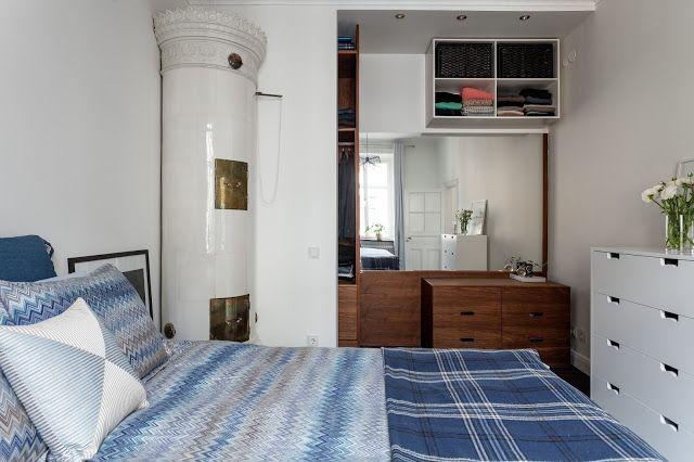 Blog wnętrzarski - design, nowoczesne projekty wnętrz: Skandynawskie dwupokojowe mieszkanie 59m2