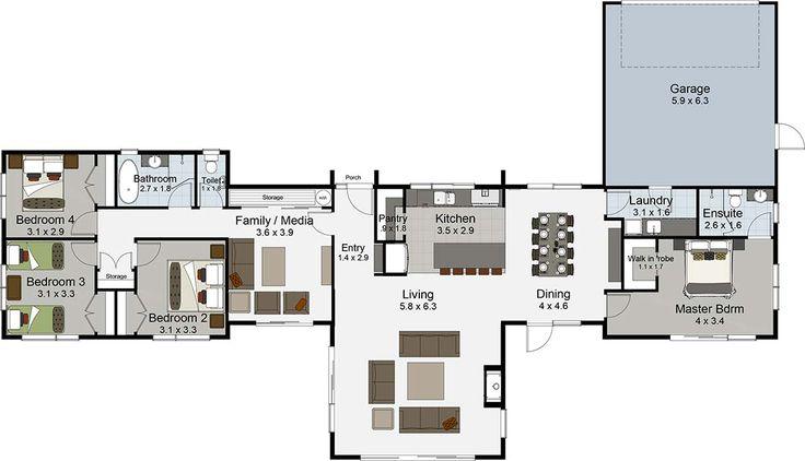 Northlake 4 bedroom house plans Landmark Homes builders NZ