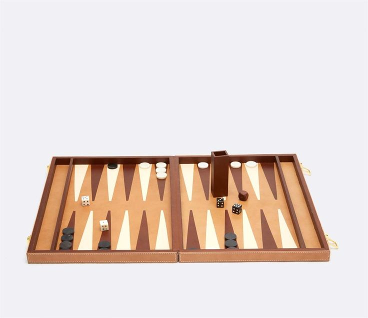 Pigeon & Poodle Grantham Backgammon Game Set in Beige from The Well Appointed House