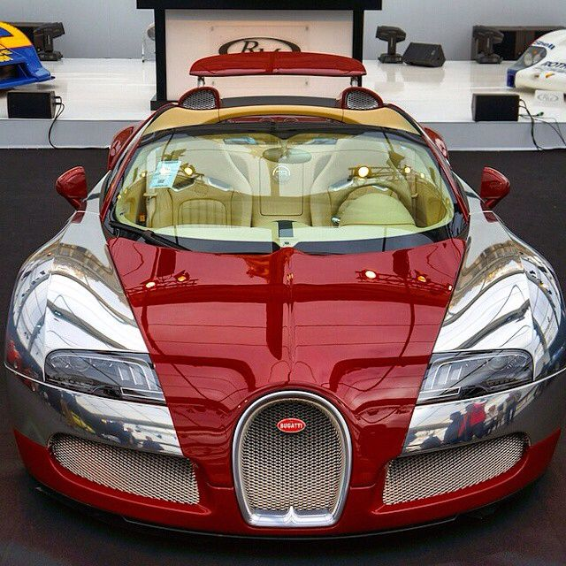 Red on Chrome Bugatti Follow @List25 for a daily escape of fun, random and…
