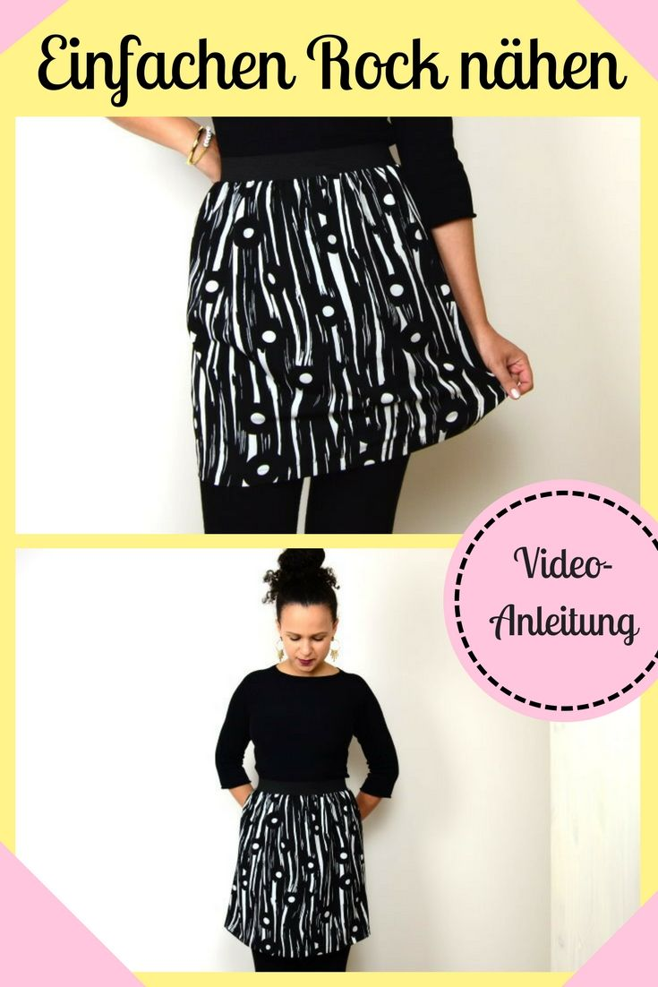 Skirt with Rubber Simple Sewing Sewing for Beginner Sewing Beginner Ideas …  – nähen/sewing
