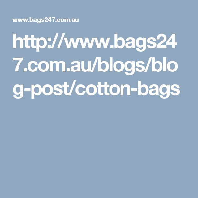 Cotton bags, one step closer to a safe environment