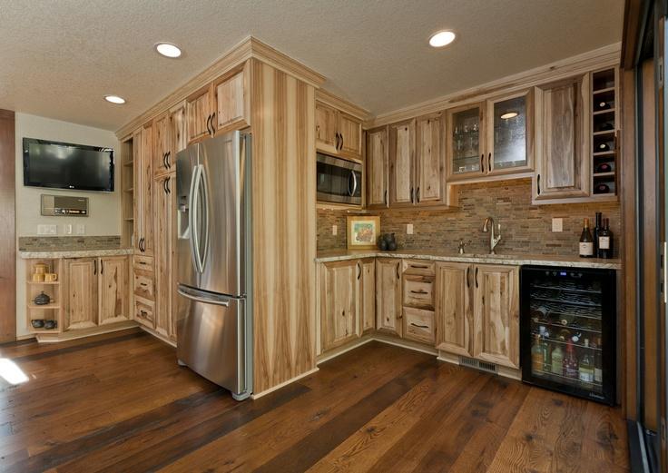 Hickory Wet Bar Prep Kitchen Maple Cabinet Kitchen