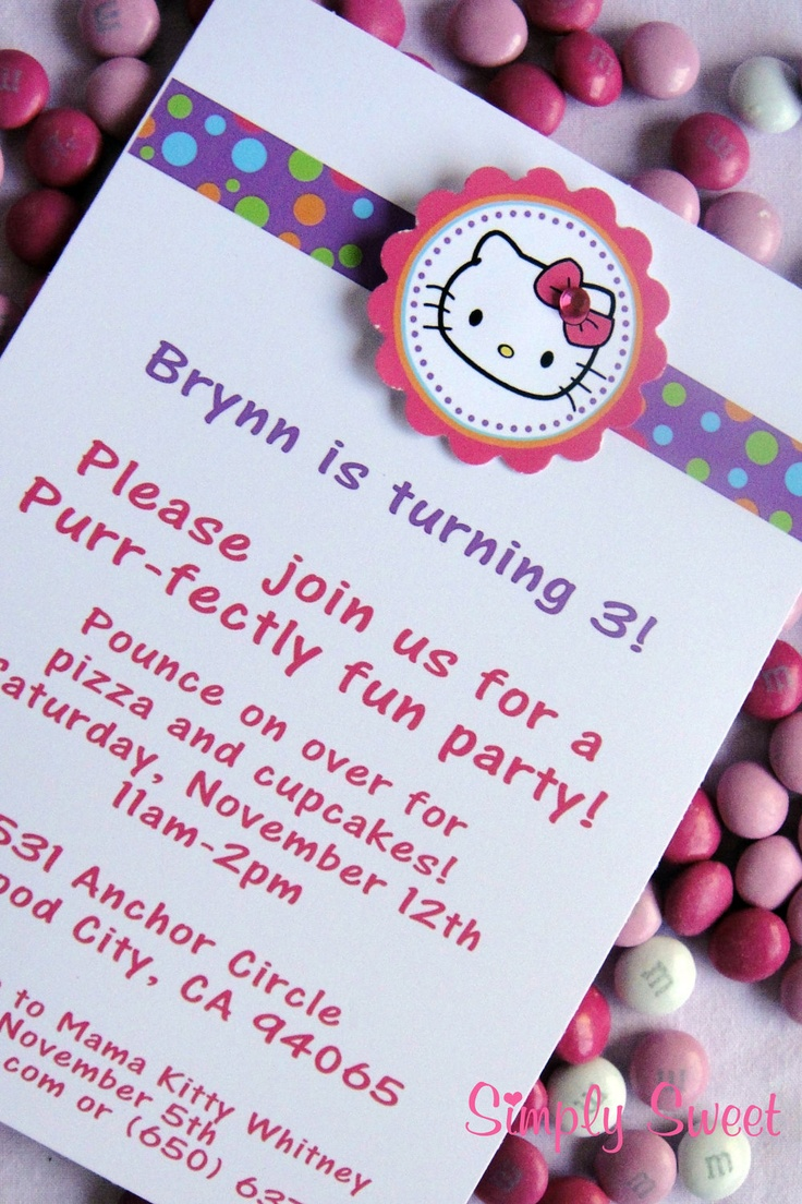 19 best images about hello kitty – Hello Kitty Birthday Party Ideas Invitations