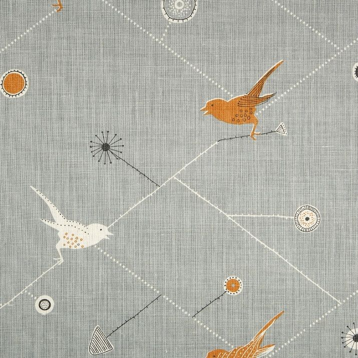 Window blinds  Dawn Chorus - Duck Egg, Pumpkin and Winter | Vanessa Arbuthnott Fabrics