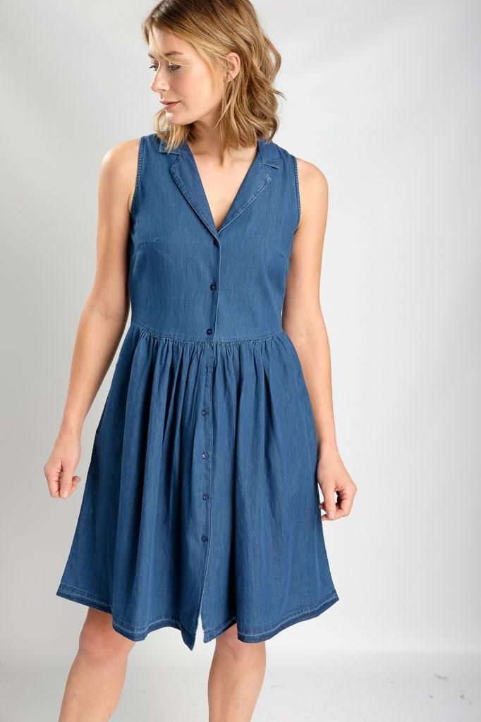 a79693c346 Lola Denim Tea Dress   dresses   Dresses, Denim fabric, Dress making