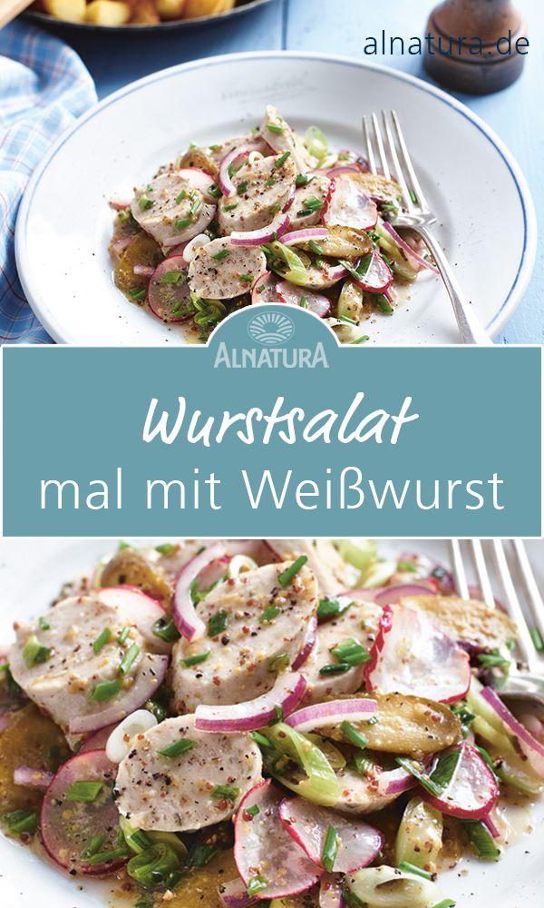 Sausage salad with white sausages and sweet mustard vinaigrette – A simple but … – Was koche ich heute? (schnelle Rezepte für jeden Tag)