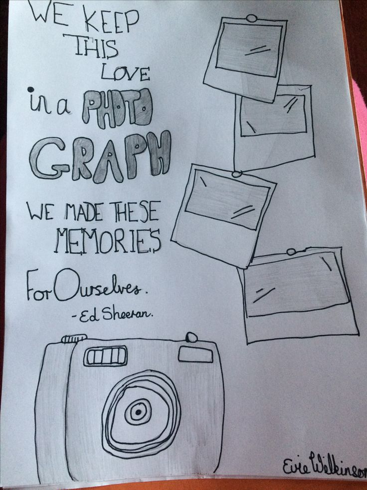 Photograph By:Ed Sheeran. I drew this myself 💕. OPINIONS PLEASE
