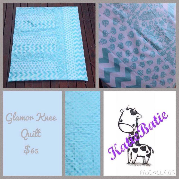 Handmade by Katie Batie Glamor Knee Quilt.