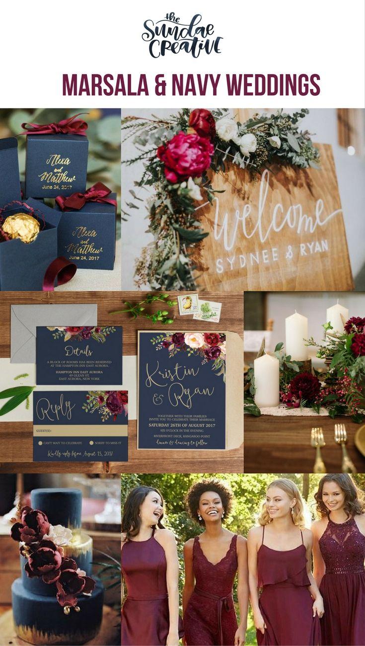 Marsala Wedding Invitation, Marsale Wedding, Marsala