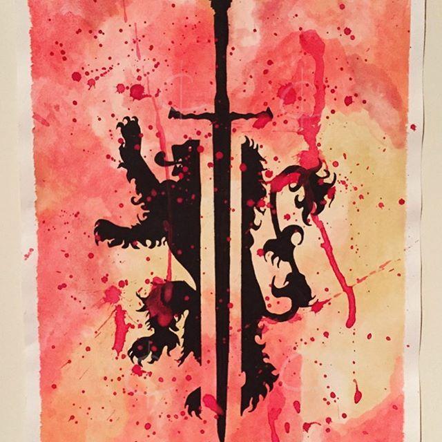 Game of Thrones series: Jaime Lannister ⚔️ #watercolor #watercolour #waterpaint #waterpainting #geeky #got #gameofthrones #asoiaf #jaimielannister #lannister #houselannister