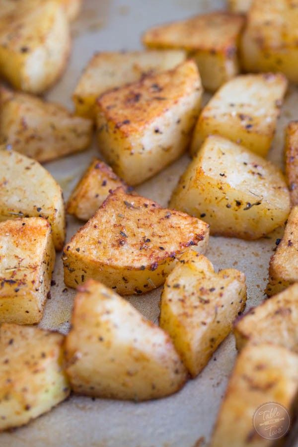 Our favorite way to roast potatoes with the easiest seasonings! You'll love these as a side dish for every night of the week!