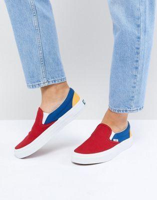 009fea99f2f3 Vans Slip On Sneakers In Primary Color Block in 2019