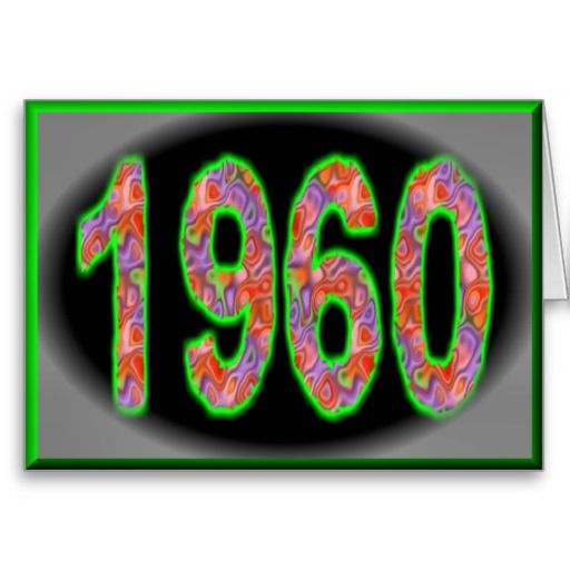 Marvelous Happy Birthday 1960 Year Of Birth 60S 60S Sixties Card Funny Birthday Cards Online Chimdamsfinfo