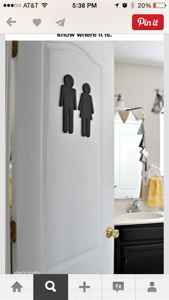 This might be a cute idea for the guest bathroom Dream House