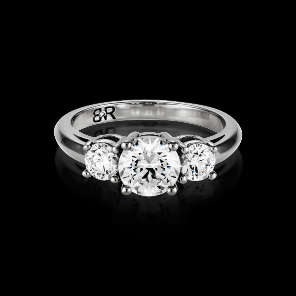 Tres is the BigRocxs 3 Stone engagement ring. If 1 Rock is good, 3 Rocxs is over the top.