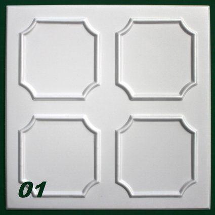 1 m2 Deckenplatten Wandverkleidung Dekorplatten Decke Innendekor 50x50cm, Nr.01: Amazon.de: Baumarkt