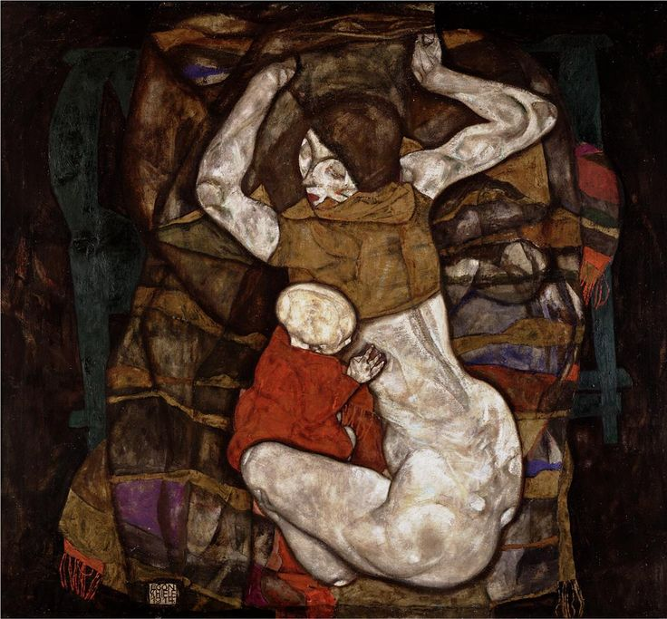 Egon Schiele, Junge Mutter, 1914, Öl auf Leinwand © Wien Museum