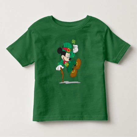 Leprechaun Mickey Mouse | St. Patrick's Day Toddler T-shirt - tap, personalize, buy right now!