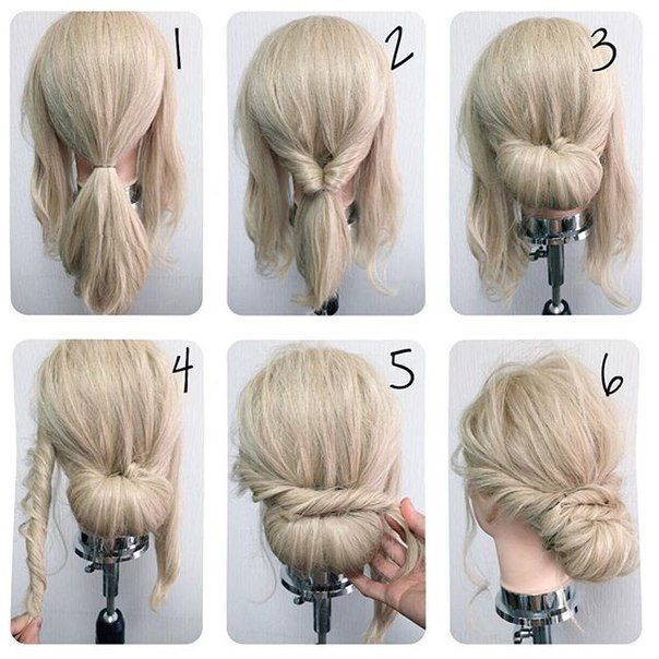 Peachy 1000 Ideas About Easy Bun Hairstyles On Pinterest Easy Bun Bun Hairstyle Inspiration Daily Dogsangcom