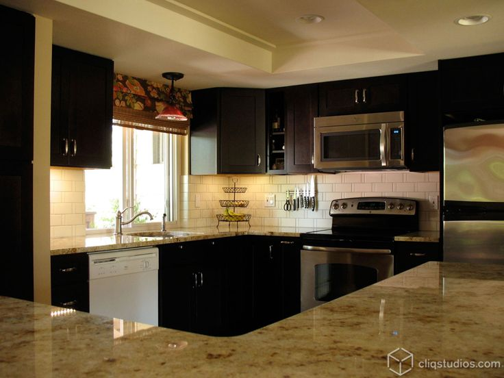 Great Black Kitchen Cabinets   Contemporary   Kitchen   Seattle   By CliqStudios  Cabinets Amazing Ideas
