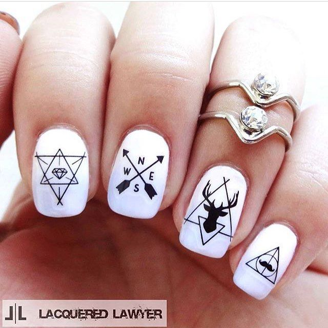 163 best nails images on pinterest nail designs nailart and lhy33 s hipster nails are just too cool what do you think of prinsesfo Choice Image