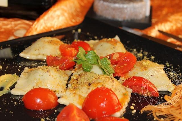 ravioli di pistacchi e pancetta