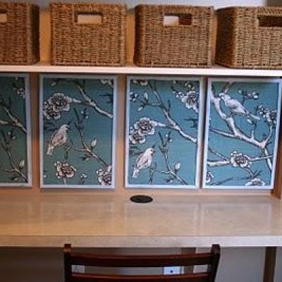 Turn cheap corkboards into fabulous works of art simply by covering them in your favorite fabric.  They look fabulous on their own and are functional to boot!