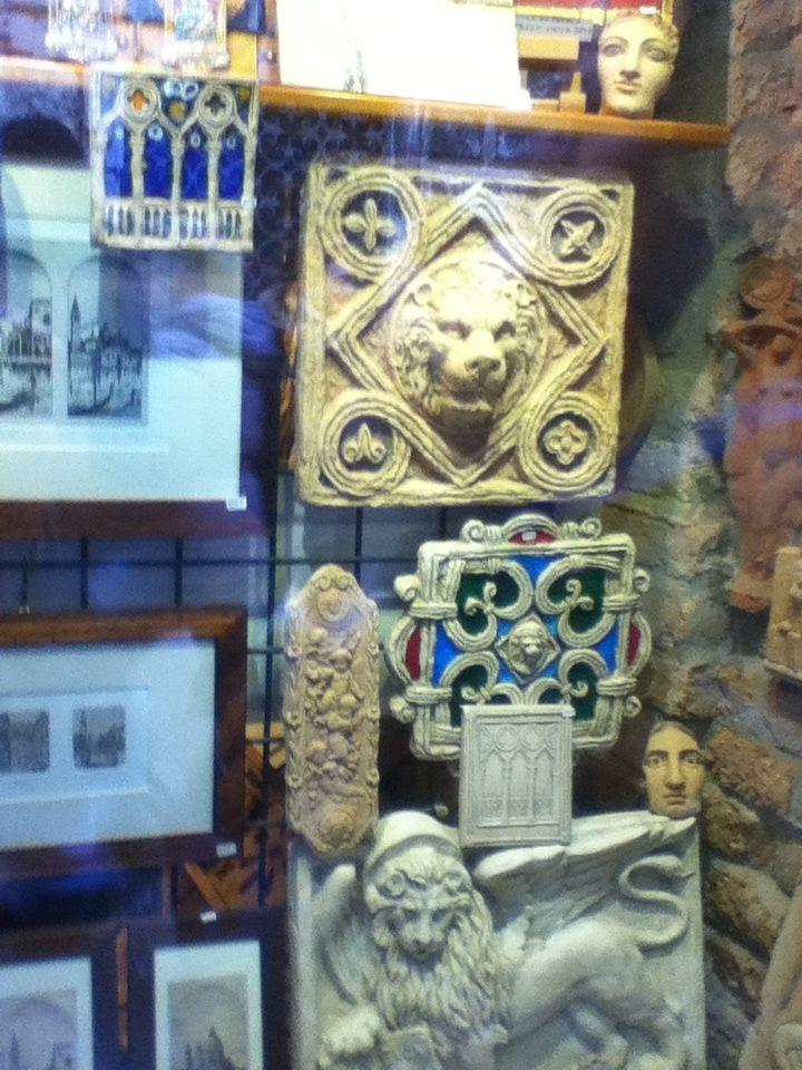 Arte em argila - loja em Veneza