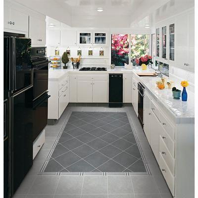 Floor tile - either dark or light grey