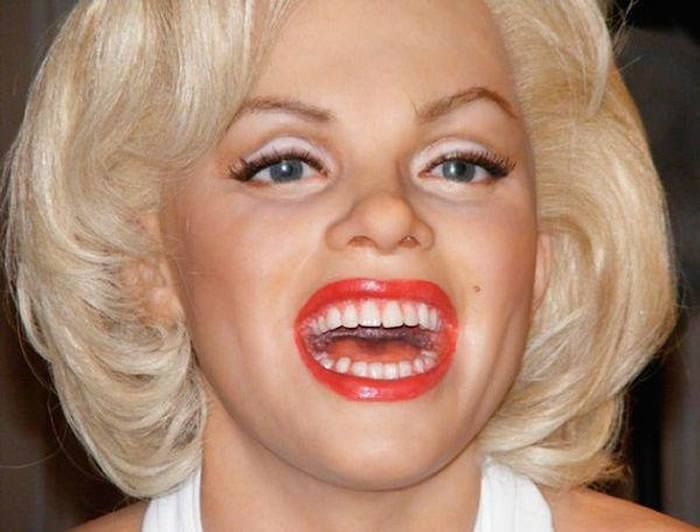 Marilyn Monroe  The 18 Most Bizarre And Scary Celebrity Waxworks You'll Ever See • Page 2 of 5 • BoredBug