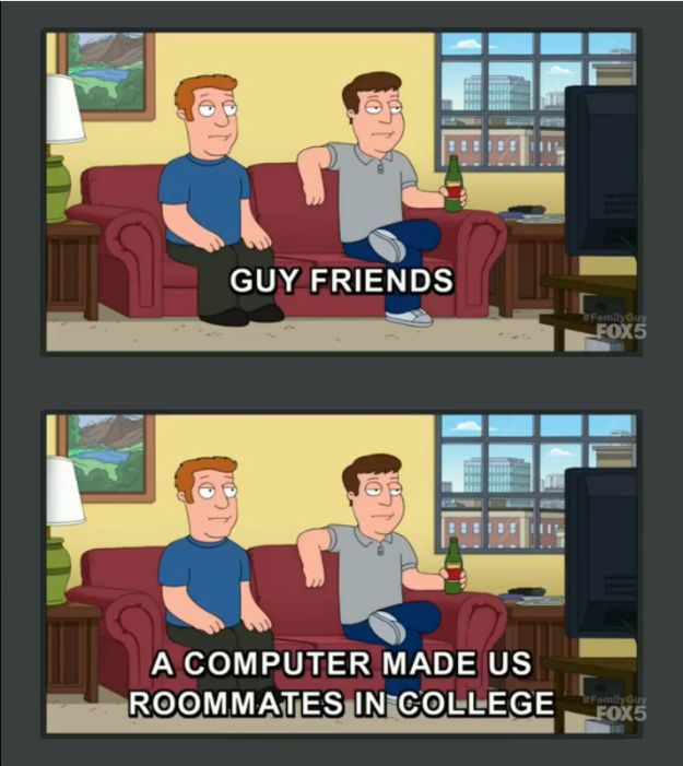 "When the show accurately summed up how male friendships start. | 21 Times ""Family Guy"" Was Legit Hilarious"