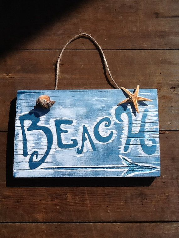 Beach Sign Vintage Beach Sign  Wood Beach Sign by WOODruSAYINSigns
