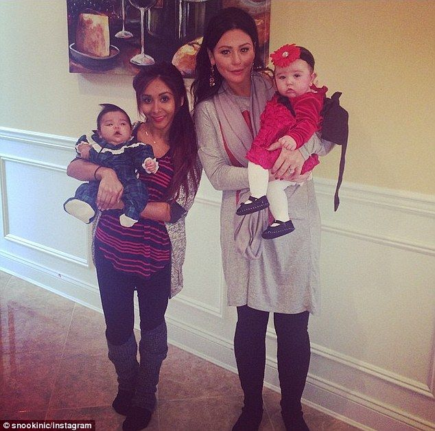 A match made in New Jersey heaven: Snooki and JWoww posed side by side with