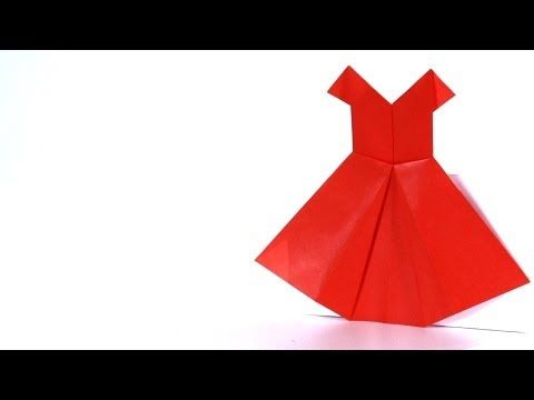 ▶ How to Make a Dress | Origami - YouTube...great easy to follow video